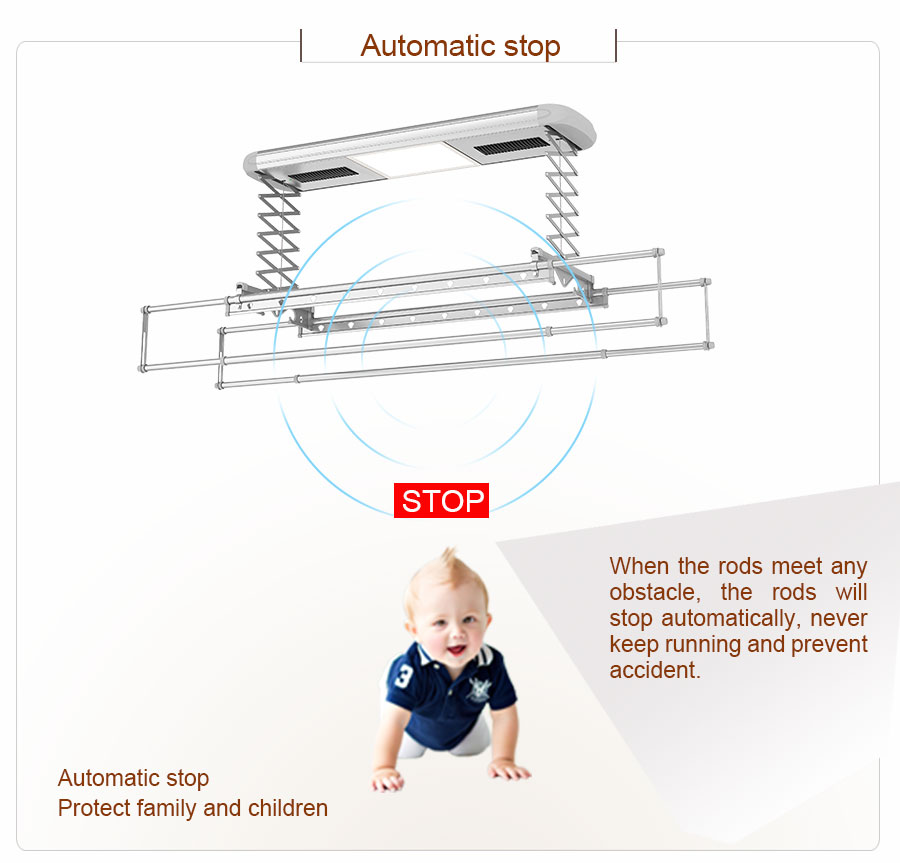 automatic clothes drying rack