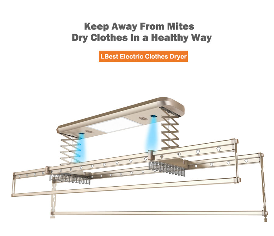 smart clothes dryer with remove mites