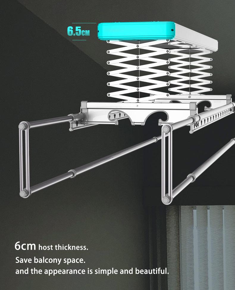Retractable double rail clothes rack