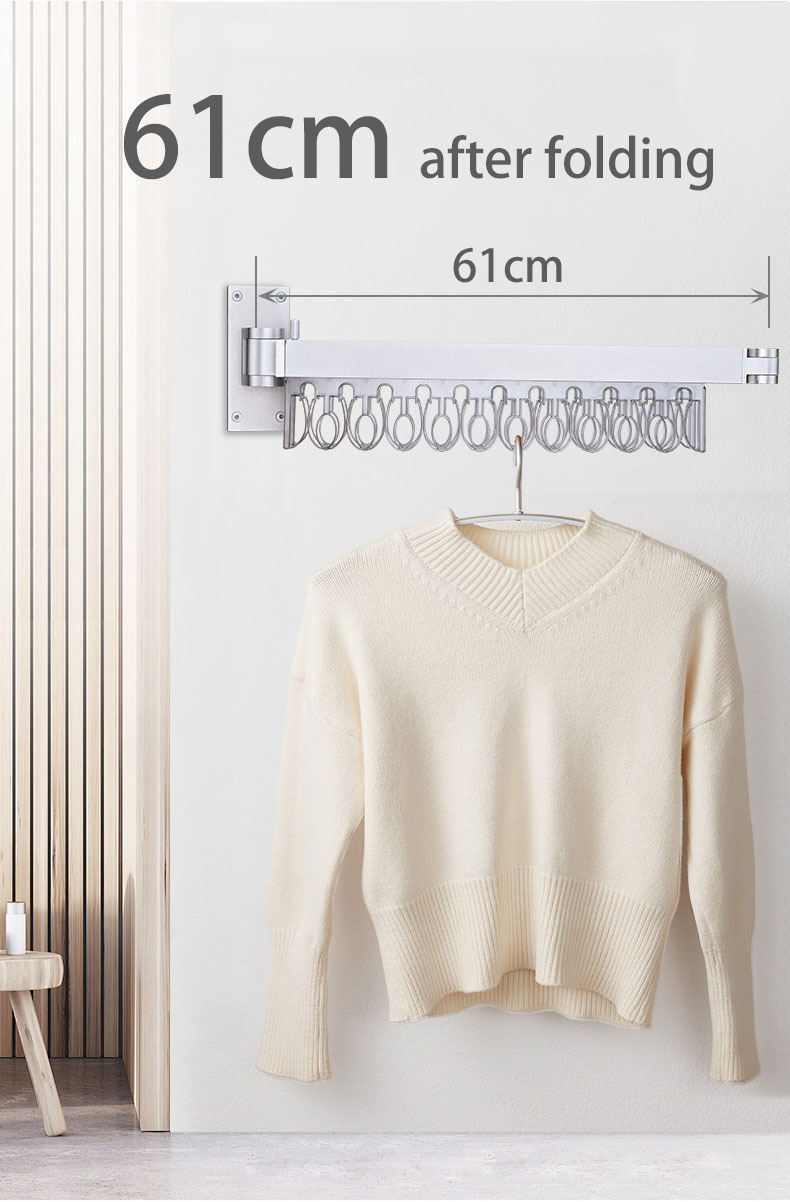 clothes drying rack wall mounted