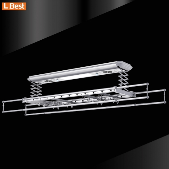 Quick drying Ceiling Mounted Electric Clothes Drying Rack