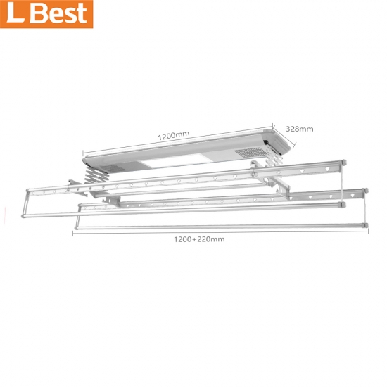 Home Appliance Ceiling Clothes Hanger Automatic Clothes Drying Rack With Remote Control