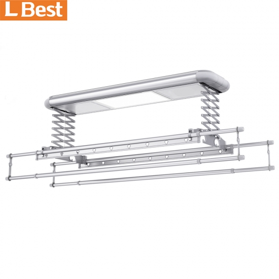 Ceiling Mounted Clothes Hanger With Wireless Control