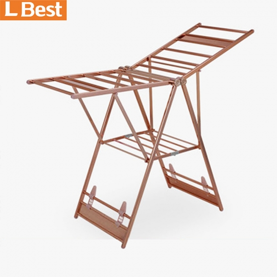 Hot Sales Outdoor Baby Cloth Hanger Stand  Folding Clothes Drying Stand