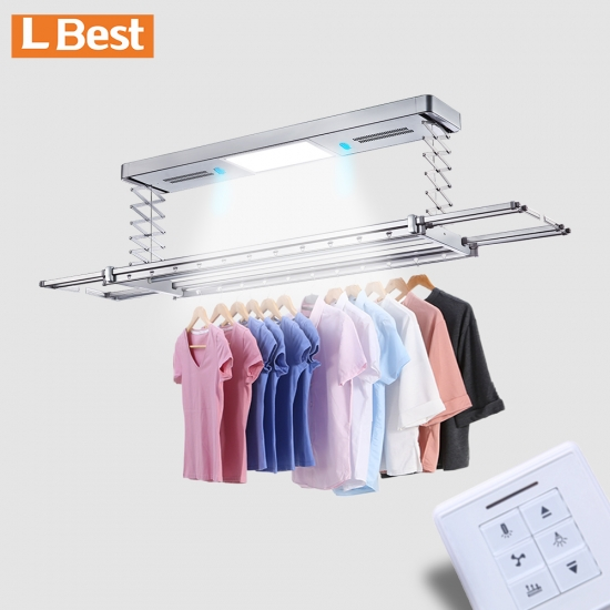 Hanging Racks For Clothes Large Clothes Drying Rack Electric Ceiling Mounted Lifting Clothes Hanger