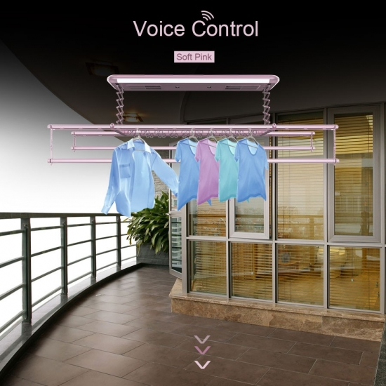Electric Clothes Hanger Rack Clothes Airer Dryer Machine Clothes Hanging Rack With Light