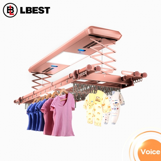 Balcony Ceiling Mount Automatic Clothes Drying Rack Clothes Drying Rack Foldable Hanger