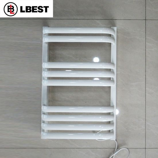 Bathroom Wall Mounted Electric Heated Towel Rail Towel Drying Rack Warmer Radiators