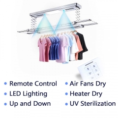 Automatic wall mounted indoor clothes drying rack